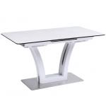 Обеденный стол FUSION-160 Керамика Светло-серый