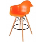 Барный стул EAMES DAW Оранжевый