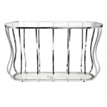 Консоль прозрачное стекло/хром 13RXC4035-SILVER