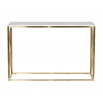 Консоль искусственный белый мрамор/золото 47ED-CST023GOLD