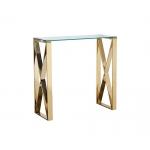Консоль прозрачное стекло/золото 47ED-CST008/80GOLD