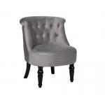 Кресло низкое серое велюровое 24YJ-8044B-057
