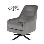 Кресло велюровое светло-серое 46AS-AR3112-L