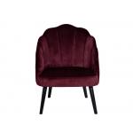 Кресло велюровое бордовое PJC483-PJ604