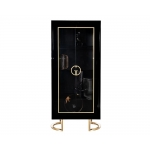 Витрина Garda Decor черная с золотом GD-VI002
