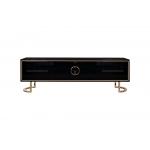 Тумба под телевизор Garda Decor черная с золотом GD-TV002