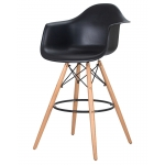 Барный стул EAMES DAW LMZL-PP620M Черный