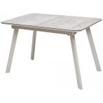 Стол ARUBA 140 BEIGE / CAPPUCINO глазурованное стекло