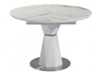 Обеденный стол DIAMOND Белый мрамор