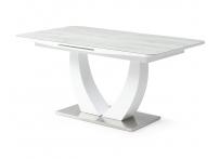 Обеденный стол ROCK 160 Бело-серое стекло