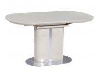 Обеденный стол DISCOVERY 120 Латте сатинированное стекло