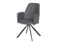 Кресло NORD GREY (серый) с коричневым кантом