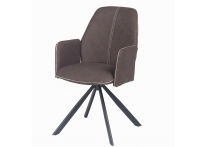 Кресло NORD BROWN (коричневый) кант Сонома