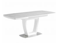 Обеденный стол JUMP Белый стекло серое