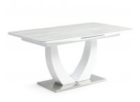 Обеденный стол ROCK Белый стекло серое
