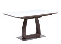Обеденный стол VETRO 140 Кэмел / Белый