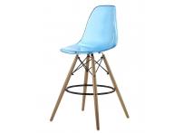 Барный стул EAMES DSW Clear прозрачный голубой