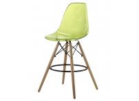Барный стул EAMES DSW Clear прозрачный зеленый