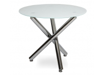 Обеденный стол РУССО LH-01 Белый / хром 90 см