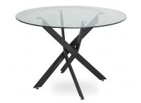 Обеденный стол НАРРО LH-02 Прозрачный / черный 100 см