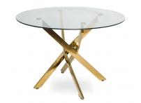 Обеденный стол НАРРО LH-02 Прозрачный / золото 110 см