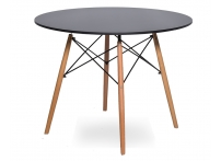 Стол Eames 4BT d90 см Черный