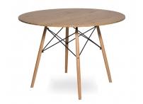 Стол Eames 4BT d90 см Деревянный