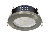 Встраиваемый светильник GX53 с влагозащитой IP65 H9 сатин-хром
