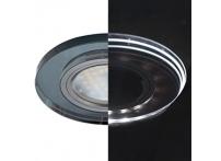 Встраиваемый хрустальный потолочный светильник под лампу MR-16 с LED подсветкой LD1650 черный