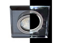 Встраиваемый хрустальный потолочный светильник под лампу MR-16 с LED подсветкой LD1651 черный