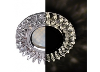 """Встраиваемый хрустальный потолочный светильник под лампу MR-16 с LED подсветкой LD1661 """"Гребенка"""" прозрачный"""