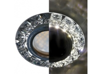 """Встраиваемый хрустальный потолочный светильник под лампу MR-16 с LED подсветкой LD1661 """"Конус"""" черный"""