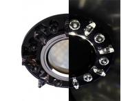 Встраиваемый хрустальный потолочный светильник под лампу MR-16 с LED подсветкой LD1661 черный