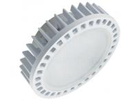 Лампа светодиодная Ecola LED premium GX53 15W матовое стекло с фронтальным алюминиевым радиатором