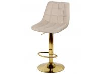 Барный стул Дижон WX-2822 бежевый велюр на золотой ножке
