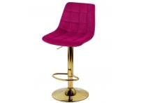 Барный стул Дижон WX-2822 бордовый велюр на золотой ножке