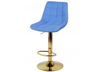 Барный стул Дижон WX-2822 голубой велюр на золотой ножке