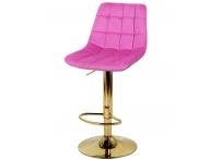 Барный стул Дижон WX-2822 розовый велюр на золотой ножке