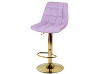 Барный стул Дижон WX-2822 сиреневый велюр на золотой ножке
