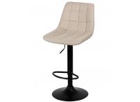 Барный стул Лион WX-2821 бежевый велюр на черной ножке