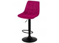 Барный стул Лион WX-2821 бордовый велюр на черной ножке