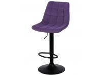 Барный стул Лион WX-2821 фиолетовый велюр на черной ножке