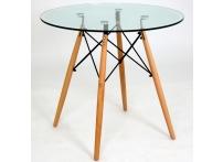 Стол Eames DSW d80 см стеклo
