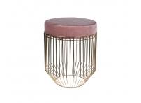 Банкетка велюровая розовая на металлическом каркасе A98005610