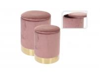 Набор из 2х пуфов (розовые) CAM000420