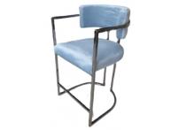 Полубарный стул 76AR-603-LB Голубой / темный хром