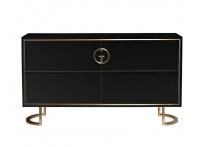 Комод Garda Decor черный с золотом GD-CH002
