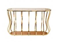 Консоль коричневое стекло/золото 13RXC4034-GOLD