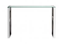 Консоль прозрачное стекло/хром 47ED-CST008