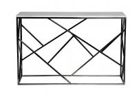 Консоль искусственный белый мрамор/темный хром 47ED-CST015BLSM